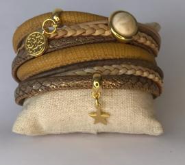Armband Croco Camel zusje