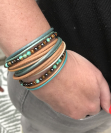Armband Turquoise met natuurstenen kralen