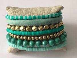 Armband Turquoise met Goud