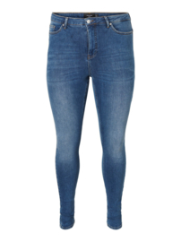 Lora, superhighwaisted jeans in blue