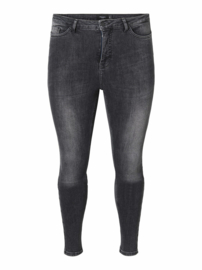 Lora, superhighwaisted jeans in grey