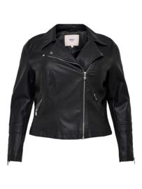 Faux leather bikerjack