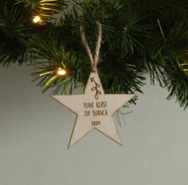 Kersthanger ster meester / juf