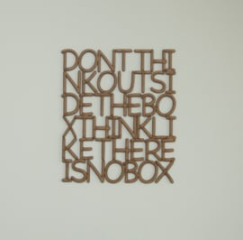 Letterkunst Don't think outside the box