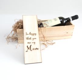 Wijnkistje vaderdag / moederdag 2