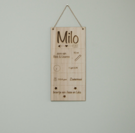 Geboorteplank Milo
