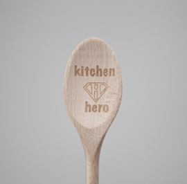 Houten lepel 'Kitchen hero'