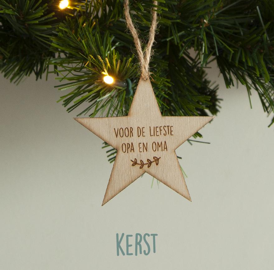 Kerstbal of kersthanger met naam of eigen tekst