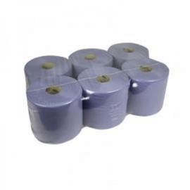 Handdoekrol Midi Centerfeed cellulose blauw 2lgs