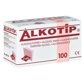 Alkotip alcoholdoekjes 45 x 83 mm 100 stuks