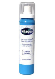 Nilaqua sanitizer plus foamer bottles 100ml (Alcohol vrij)