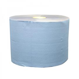Industrierol verlijmd mixed cellulose blauw 2 lgs 22 cm (prijs per 2 rollen)