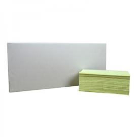 Handdoekjes Z-vouw groen 2 lgs 23 x 25 cm