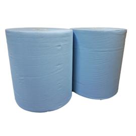 Industrierol verlijmd mixed cellulose blauw 2 lgs 37 cm (prijs per 2 rollen)