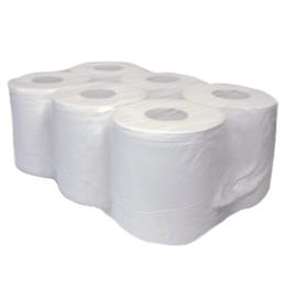 Swiss 150 midirol 2 laags met koker  recycled tissue - 6 rollen
