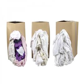 WTR 90 Poetslappen wit met gekleurd randje