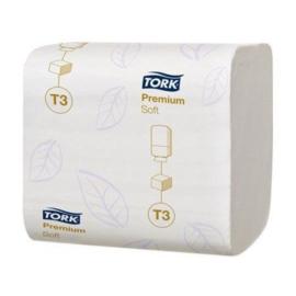 TORK PREMIUM TOILETPAPIER 2-LGS WIT 19X11 CM DOOS À 7560 VEL (114273)