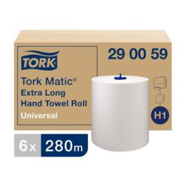 Tork Matic extra lange handdoekrol, H1, 1-laags, wit, 6 x 280 m