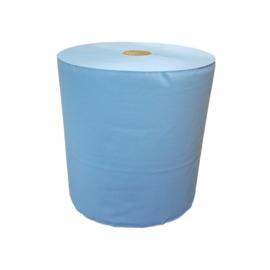 Industrierol verlijmd mixed cellulose blauw 3 lgs 37 cm