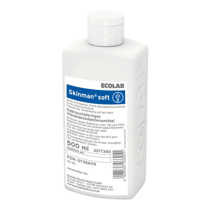 Ecolab| Skinman Soft handdesinfectans 500ml