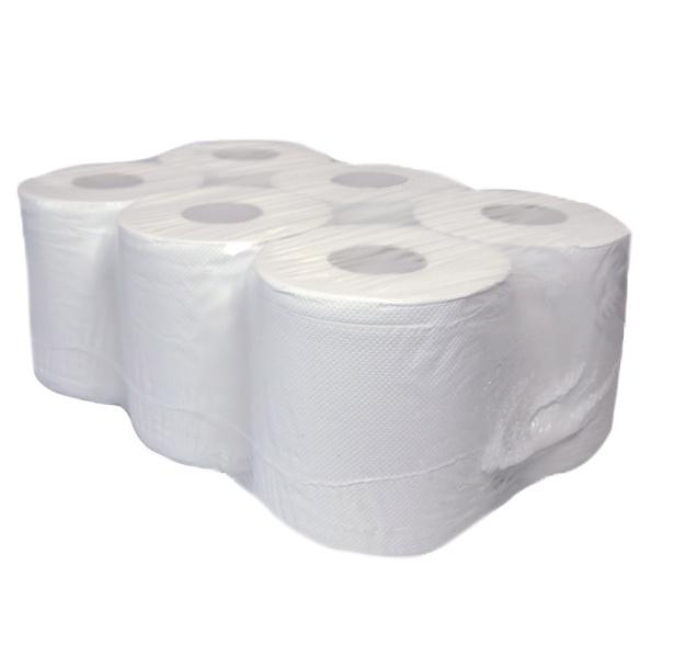 Swiss 150 meter 2 laags met koker  recycled tissue - 6 rollen