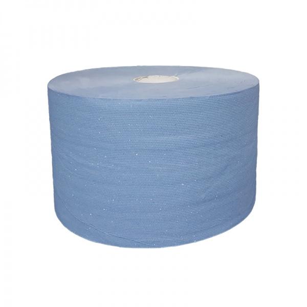 Industrierol verlijmd mixed cellulose blauw 3 lgs 22 cm (prijs per 2 rollen)