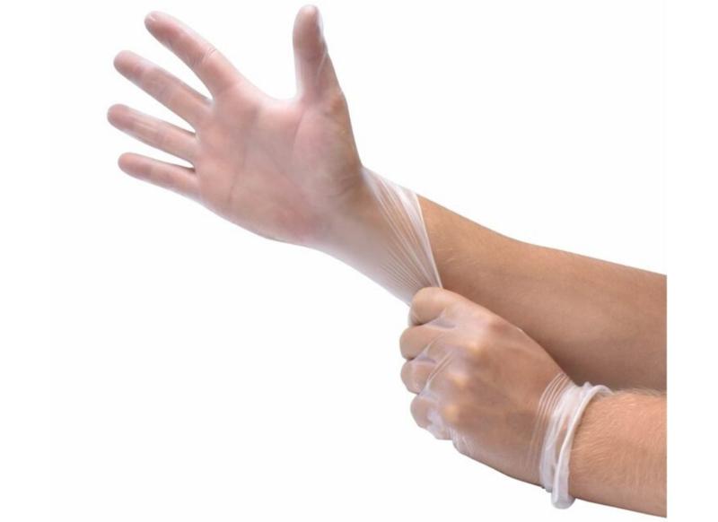 Vinyl handschoenen - poedervrij - transparant - maat S
