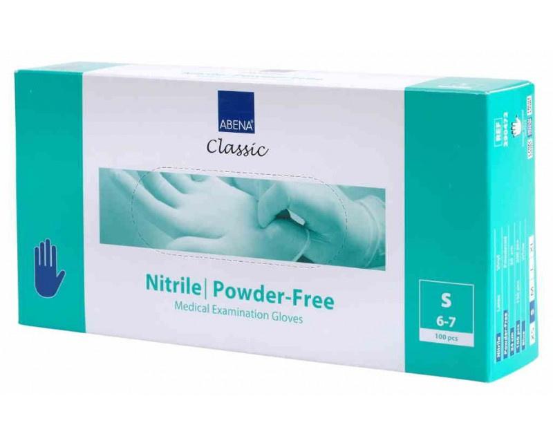 Abena Classis Nitril handschoenen  - Medisch CAT III - MAAT S - blauw