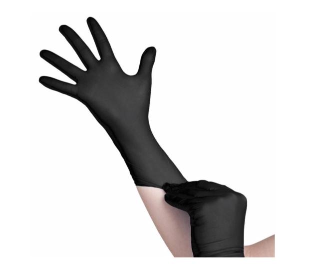 Nitril handschoenen maat XL doos 100 stuks zwart poedervrij