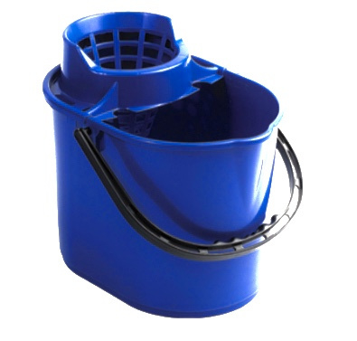 Mini mopemmer blauw 12 liter