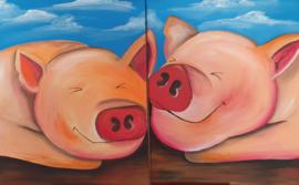 Workshop duo of trio schilderen.