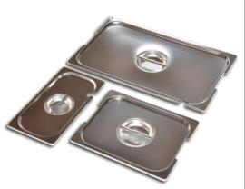 Gastronorm RVS deksels met lepeluitsparing