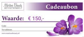 Cadeaubon € 150,-