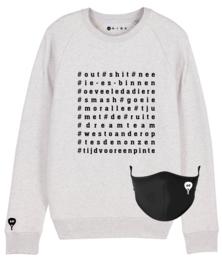 Padel sweater met bijpassend mondmasker