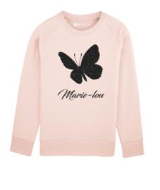 Vlinder sweater met naam