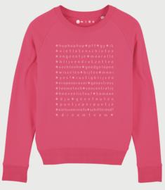 Fel roze tennis sweater