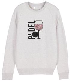 Padel Sweater met rosé wijn(2kleuren)