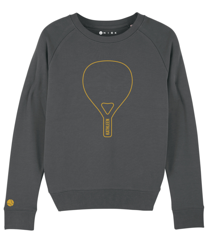 Padel sweater met tennisbal op de mouw