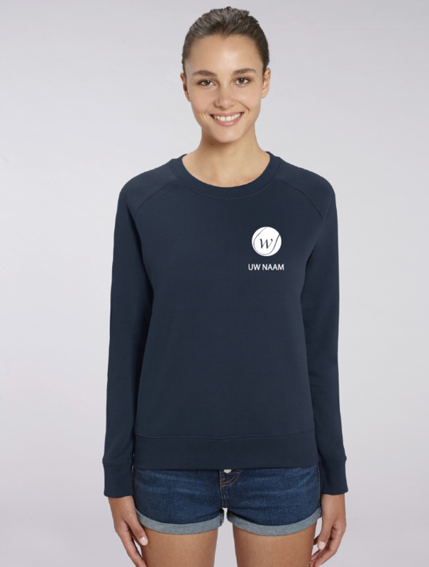 Dames Sweater Navy Waregem Tennis met naam