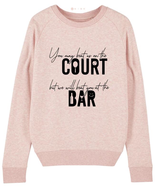 Licht roze tennis sweater