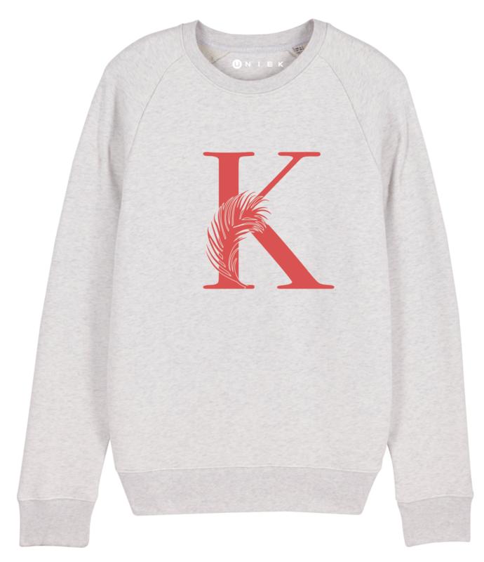 Mama sweater eerste letter met pluim