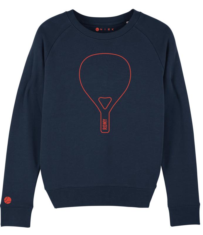 Padel  racket sweater met  naam