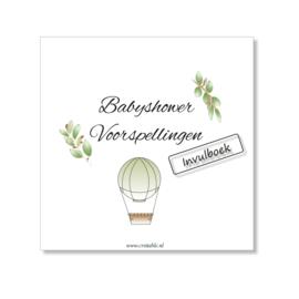 Babyshower invul- en fotoboek