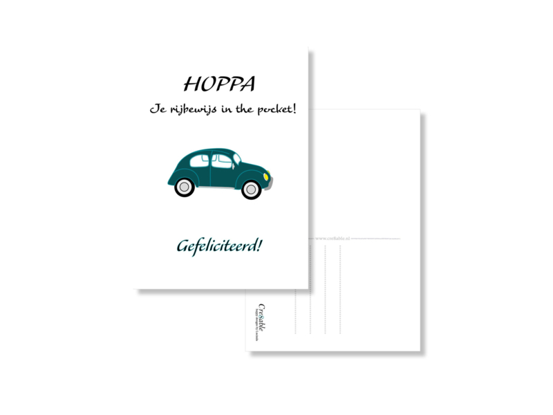 Hoppa, rijbewijs in the pocket