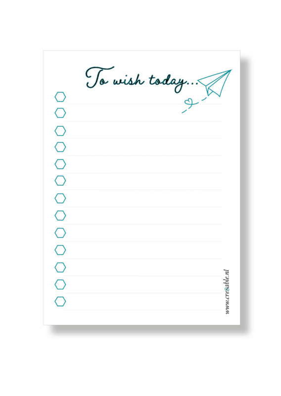 Notitieblok - To wish today...