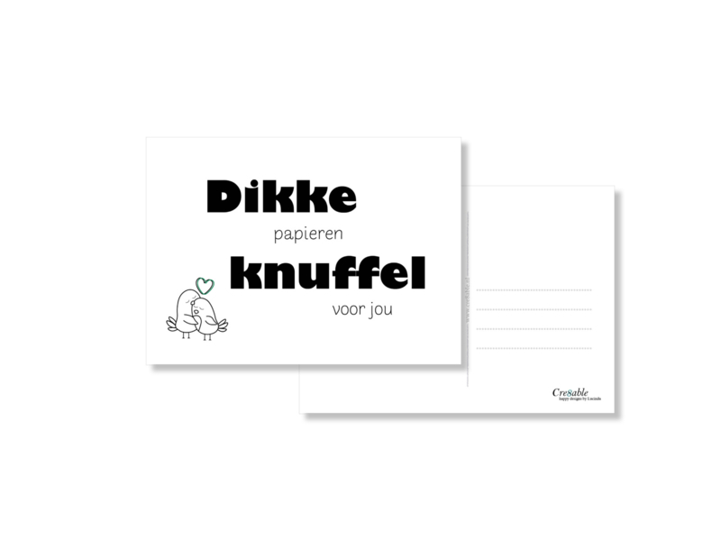 Dikke (papieren) knuffel