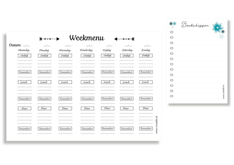 Combi-deal Weekmenu + A6 notitieblok