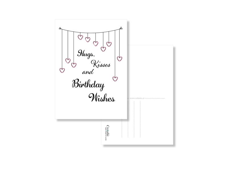 Hugs, kisses, birthday wishes