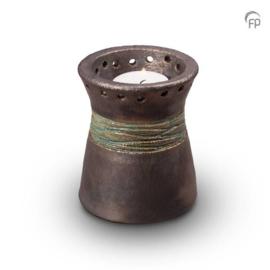 Keramische kaarshouder metallic
