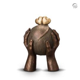 Keramische urn brons Liefde
